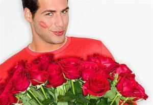 цветы в подарок мужу
