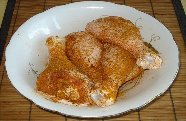 куриные голени в приправе
