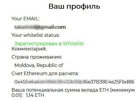 заявка на ico